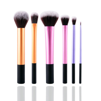 KissU New 6Pcs Professional Beginner Makeup Brush Cosmetic BrushesReal Makeup Powder Brushes Techniques Set Kit - intl