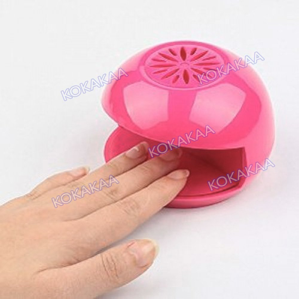 Kokakaa Nail Dryer Pengering Kutek Mini plus Battery Bundle - Pink ...