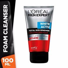 L'oreal Paris White Activ Volcano Red Foam - Pembersih Wajah Untuk Pria - 100 ml