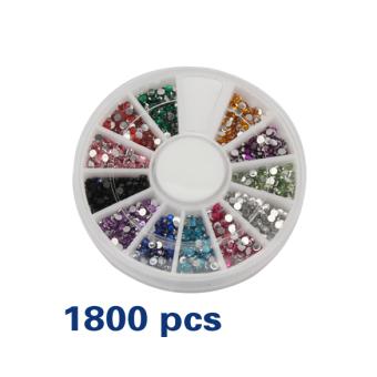 harga La vie 1.5 mm 1800 buah Nail Art batu permata berkilau Tips Roda (aneka warna) Lazada.co.id