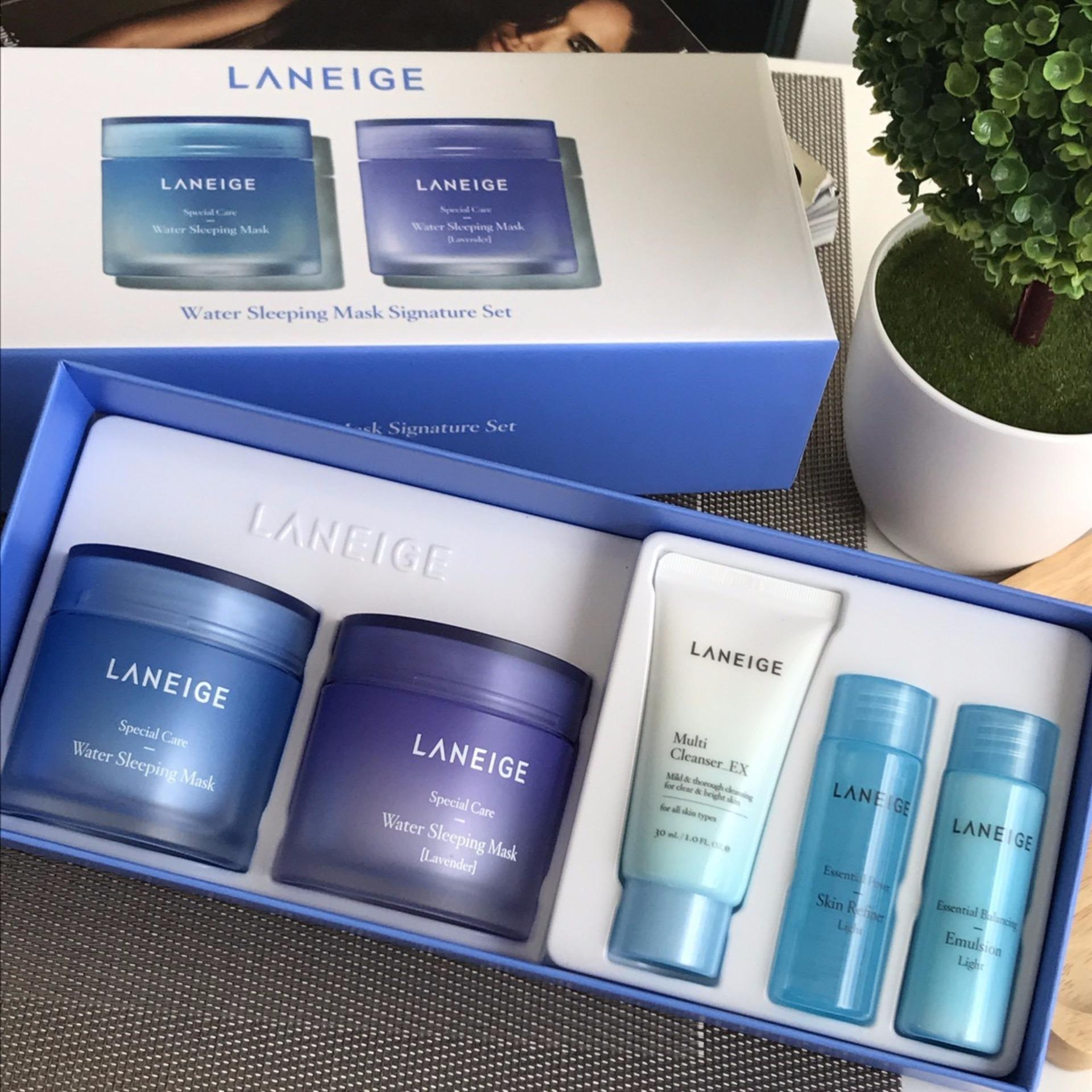 Bandingkan Simpan Laneige Water Sleeping Mask Signature Set Paket A Flash Sale