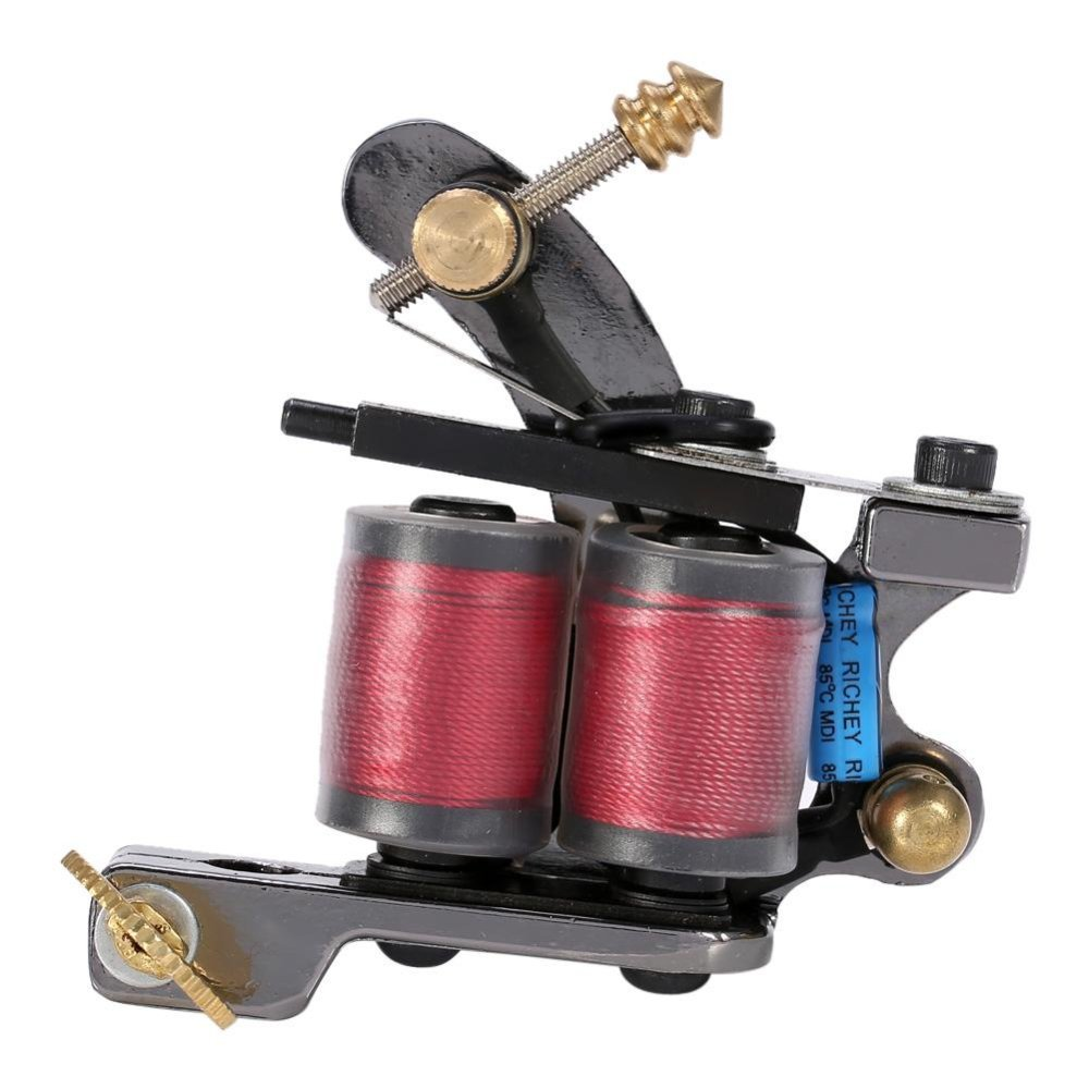 Liner Shader Tattoo Iron Machine 10 Wrap Copper Coils ColoringLining Body Art Tool - intl .