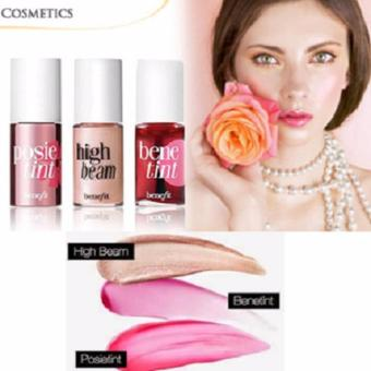 Lucky Makeup 3in1 BENEFIT FEELIN CHEEKY 3IN1( POSIE TINT ~ HIGH BEAM ~ BENE TINT ) - 1 Set