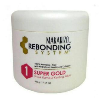 Harga MAKARIZO REBONDING SYSTEM SUPER GOLD STEP 1 – 500GR Murah