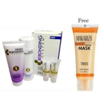 Harga Makarizo Rebonding System Tube untuk Rambut Keriting Kribo, termasuk Shampo dan Conditioner 1 Paket + Masker Rambut Tube 45ml Murah