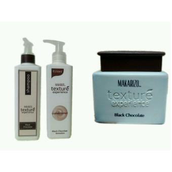 Harga Makarizo Texture Shampoo + Conditioner + Creambath Black Chocolate Murah