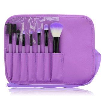 Make-Up Untuk Anda 7 Buah Alat Makeup Kosmetik Bedak Tabur BuluMata Untuk Menyamarkan Set Kuas Bibir Ungu