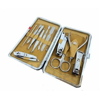 Manicure Set 12 Set In 1 Pedicure Alat Potong Gunting Kuku DompetEksklusif