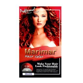 Harga Marimar Semir Rambut / Cat Rambut 30MLX2 – C34 Murah