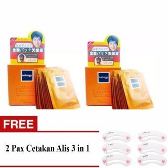 Masker Lumpur Naturgo - 20pcs + Free 2pax Cetakan Alis 3 in 1
