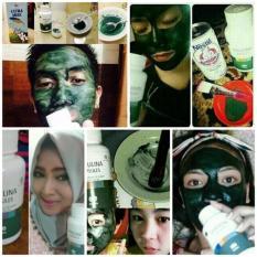 Masker Spirulina - Nutrisi Wajah &Pembersih wajah,Penghilang komedo & Jerawat Paket 25Caps