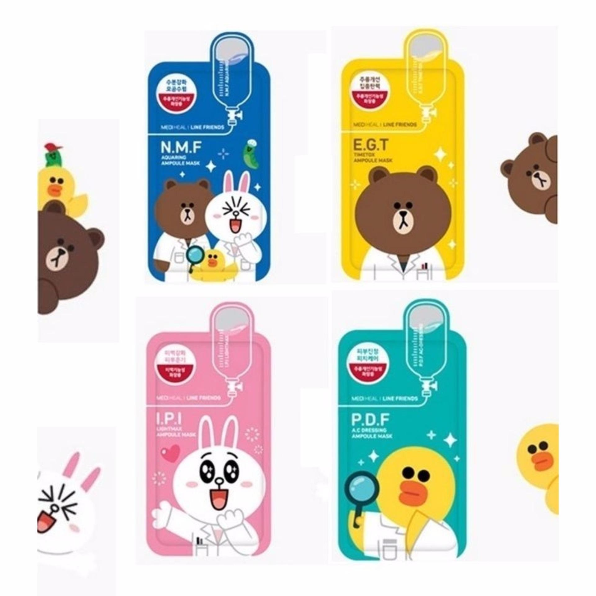 ... Mediheal Line Friends- 4 in 1 Bundle Mask Pack ...