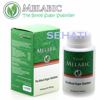 MELABIC Obat Herbal Untuk Diabetes Menstabilkan Kadar Gula Darah - 90 Kapsul .