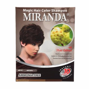 Harga MIRANDA MAGIC HAIR COLOR SHAMPOO BROWN 30 ML Murah