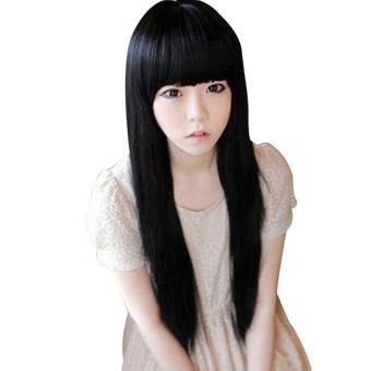Harga Moonar Bang Rapi Lurus Dan Panjang Wig (Hitam) Murah