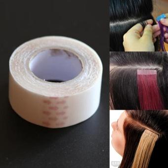 Harga Moonar Double Sided Tape PU rambut ekstensi manusia Wig lem perekat kaset Murah