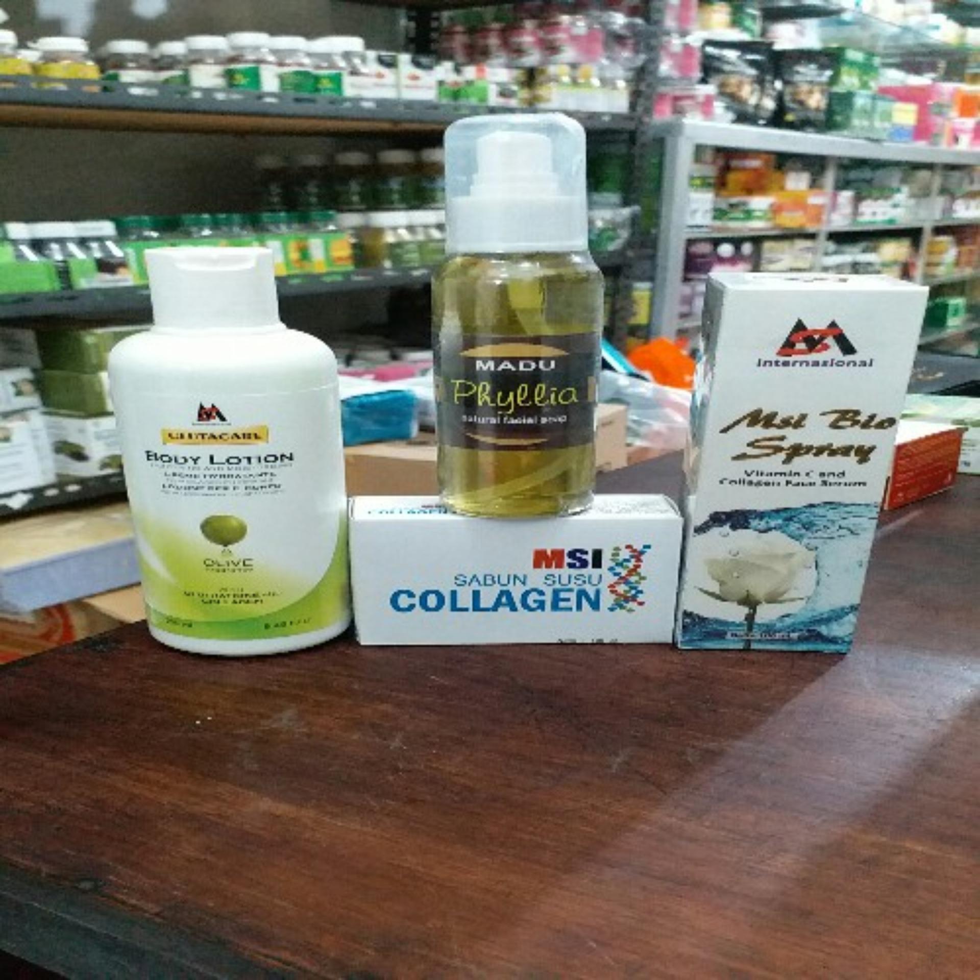 Eshop Checker Msi Paket Glutacare Body Lotion Biospray Produk Herbal Sabun Kologen Madu Phylia