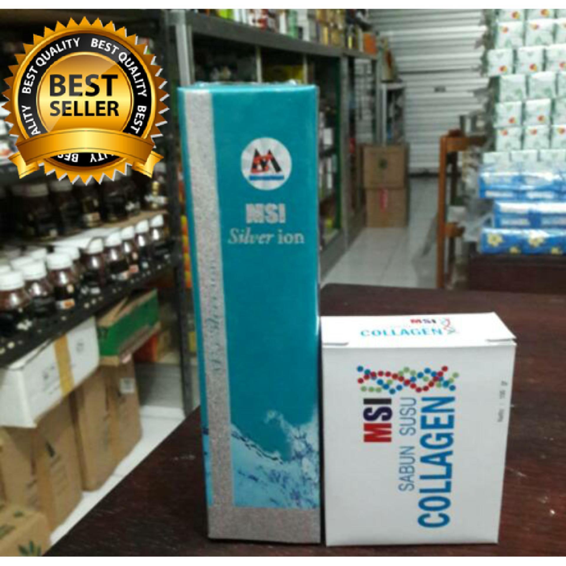 Belanja Terbaik Msi Paket Silver Ion Spray Sabun Collagen Perak Original Member
