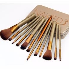 Naked 3 Kuas Make Up Premium 12 pcs