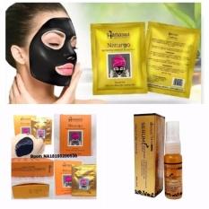 Naturgo Hanasui Masker Lumpur - 10 Pcs + Gratis 1 Pcs Hanasui Serum Gold Whitening