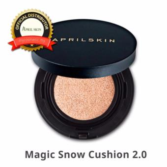 NEW APRILSKIN April Skin Magic Snow Cushion Black 2.0 Mochi RENEWAL Bedak Makeup Foundation Make up Korea Best Seller - Light Beige - 3