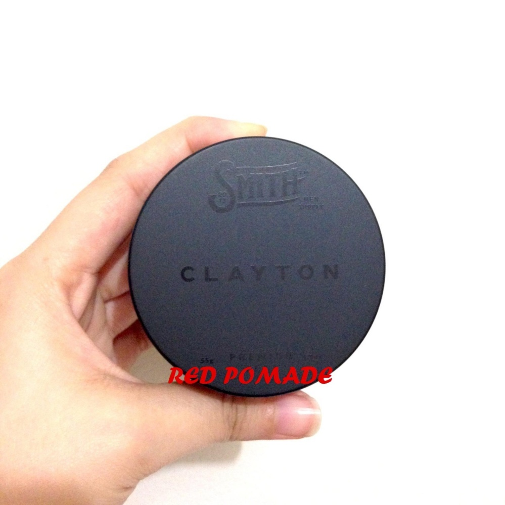 PROMO..! NEW POMADE SMITH CLAYTON PREMIUM HAIR CLAY STRONG HOLD MATTE MATT 1.9 OZ Terbaik