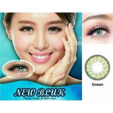 Newbluk Softlens - Green + Gratis Lenscase