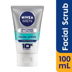 Nivea Men Whitening Oil Control Facial Scrub - 100ml