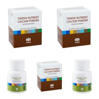 NN Tiens Peninggi Badan Herbal Alami Promo Paket 15 Hari - (3 Dus Nutrient Calcium