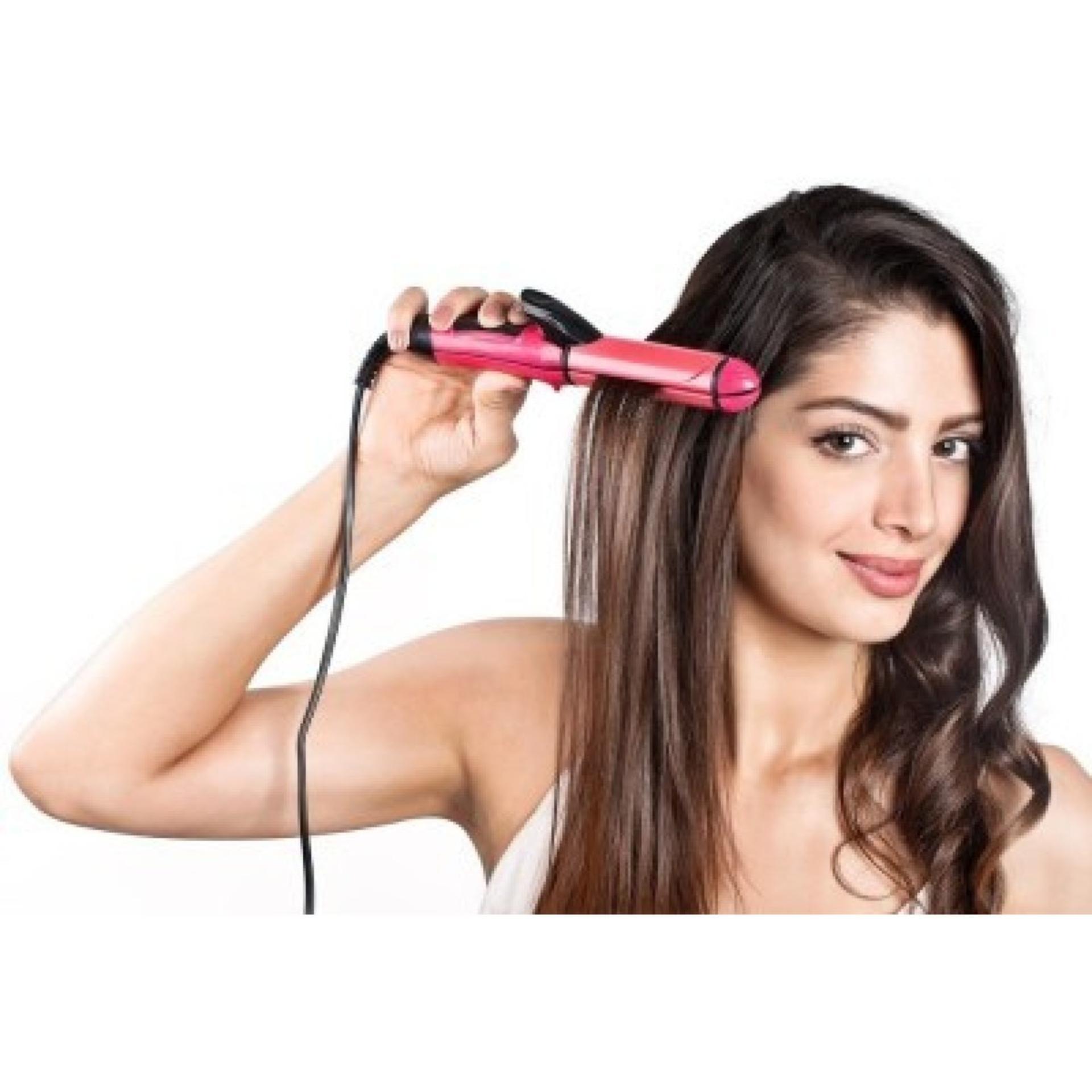 Belanja Murah Nova Catokan Pelurus Rambut Hair Straightener And Philips Hp 8302 Curler 2 In 1
