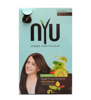 Harga NYU Hair Color Natural Brown 30g Cat Pewarna Rambut Murah
