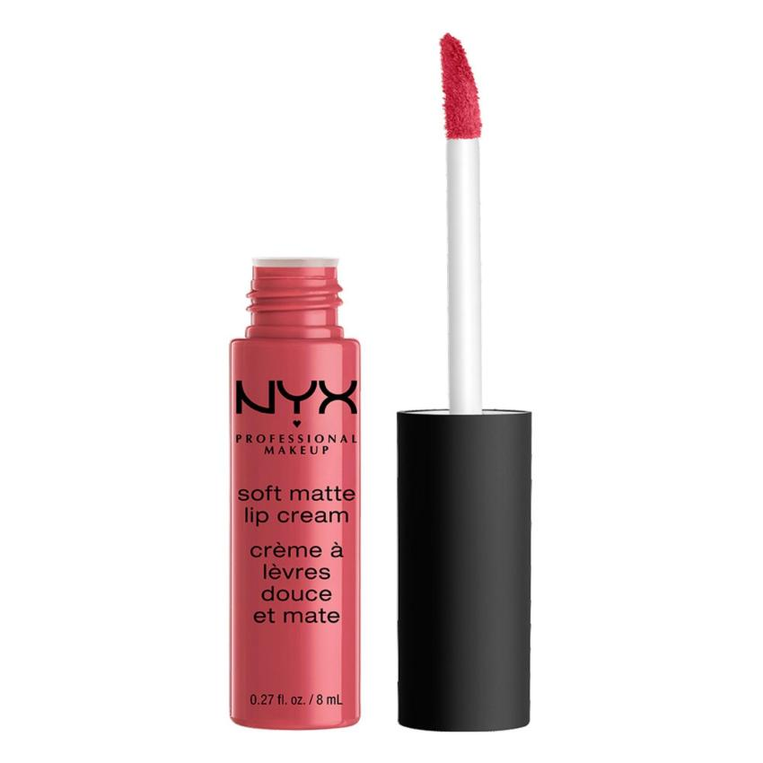 NYX Professional Makeup Soft Matte Lip Cream 08 San Paulo- Lipstik Matte Plum Pink Long Lasting Lightweight Tahan Lama