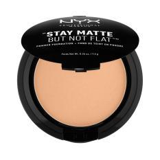 NYX Professional Makeup Stay Matte But Not Flat Powder Golden Beige - Compact Powder/Bedak Padat untuk kulit Normal & Berminyak Hasil Matte dan Flawless