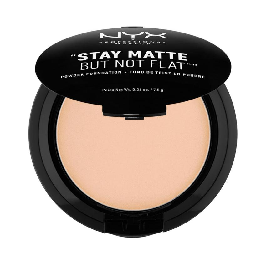 ... Foundation Source · NYX Professional Makeup Stay Matte But Not Flat Powder Natural Compact Powder Bedak Padat