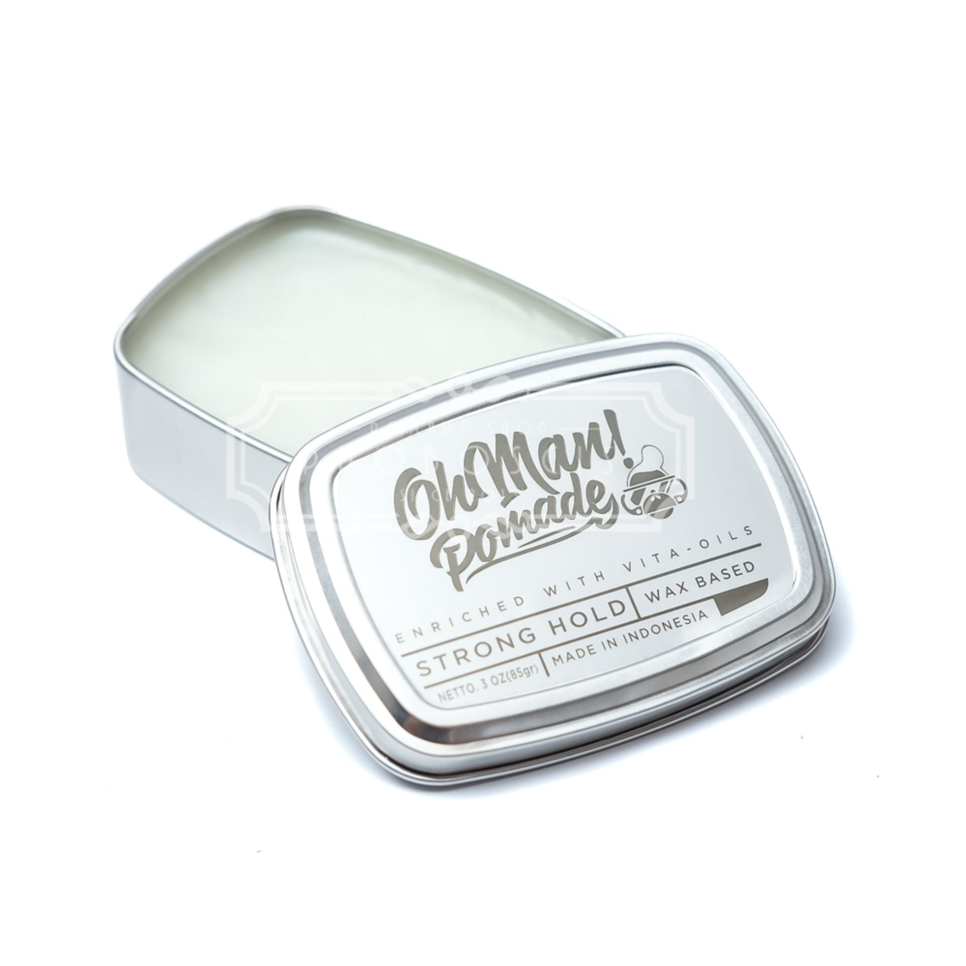 REVIEW Oh Man! Pomade Waxbased Nutri Green 85 gram Terlaris