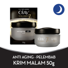 Olay Anti Aging - Pelembab Total Effects Night Cream 7 in 1 - 50gr