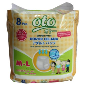 OTO Adult Diapers Pants Popok Dewasa M-L 8 pcs