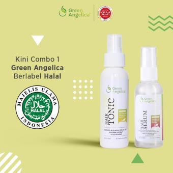 Harga Paket Combo 1 Pelebat Rambut ALAMI dan PERMANEN – Green Angelica Hairtonic & Hair Serum ORIGINAL Murah