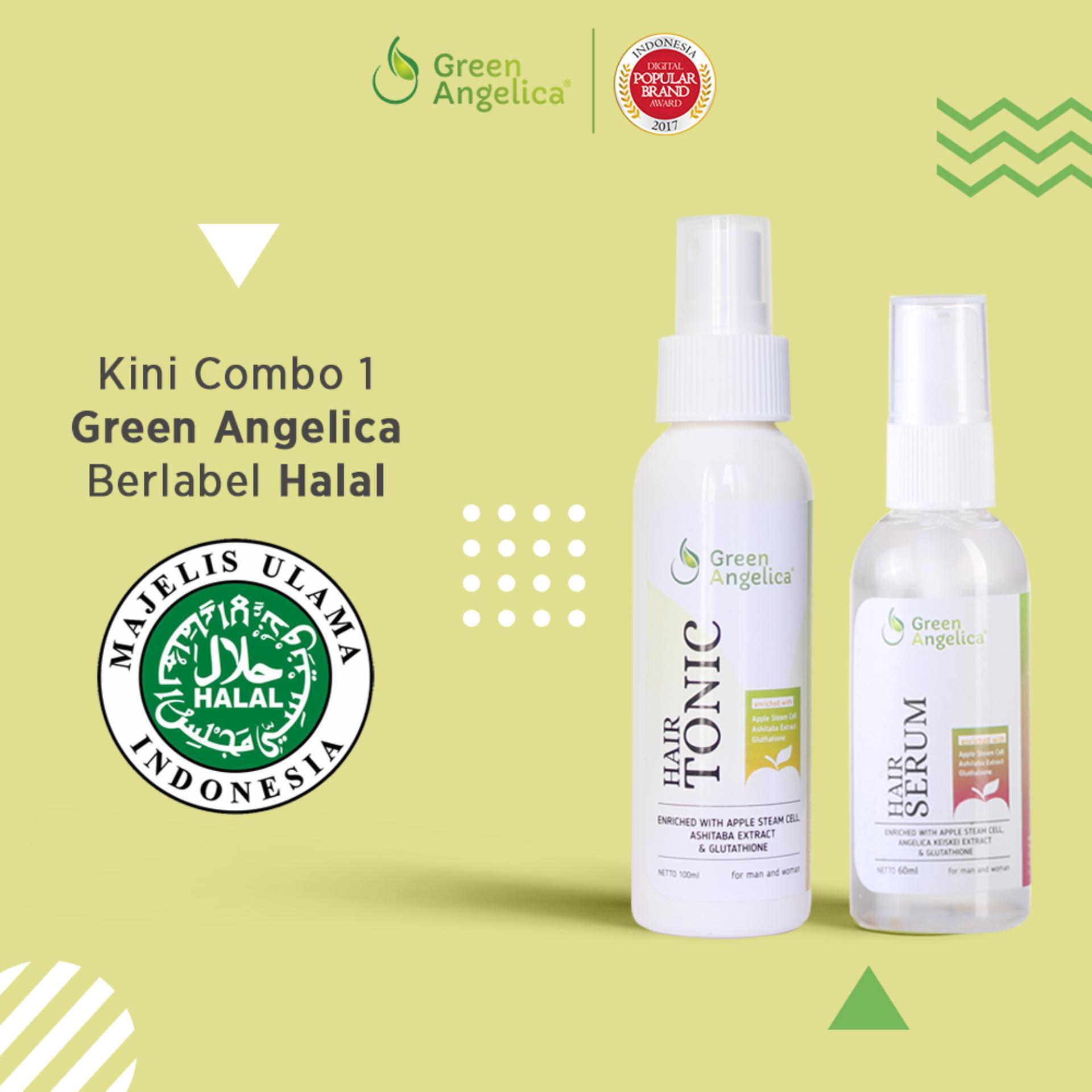 Paket Combo 1 Pelebat Rambut ALAMI dan PERMANEN - Green Angelica Hairtonic &