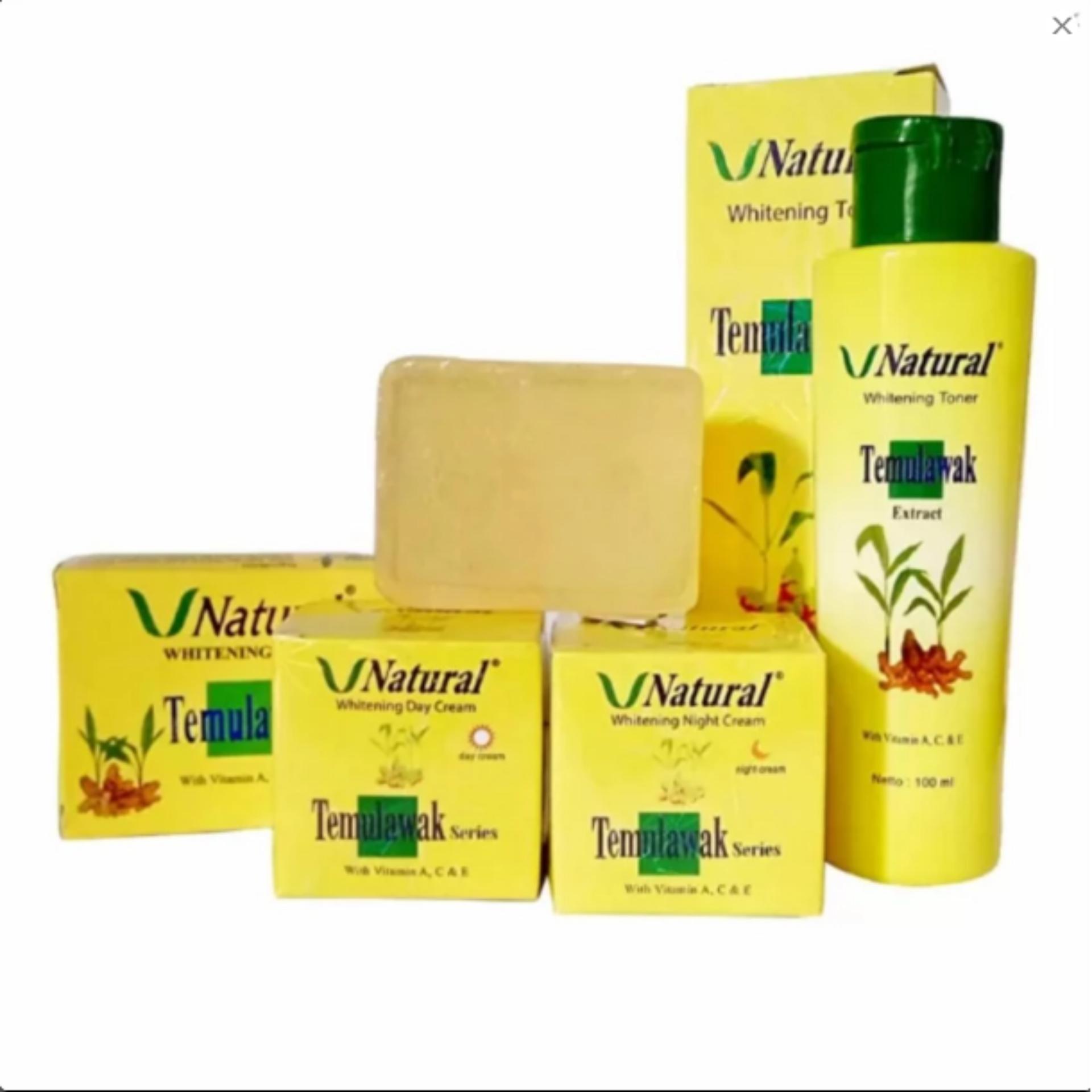 Flash Sale Paket ekonomis Temulawak V Natural BPOM - Paket Krim Temulawak ( Cream Siang Malam, Sabun Dan Toner) Original Bpom