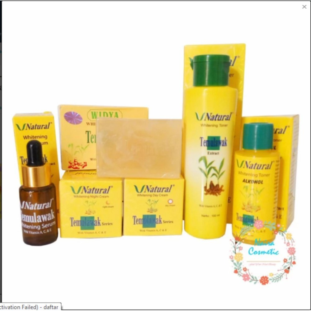 Flash Sale Paket Temulawak V Natural BPOM ( Cream Siang, Malam , Sabun WIdya, Toner, Alcohol dan Serum ) Paket Perawatan Wajah