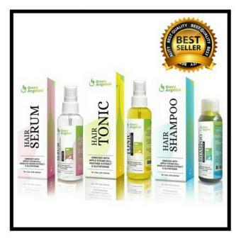 Harga Penumbuh rambut paling ampuh Green Angelica (Shampo + Hairtonic + Serum) Paket Lengkap penumbuh rambut Murah