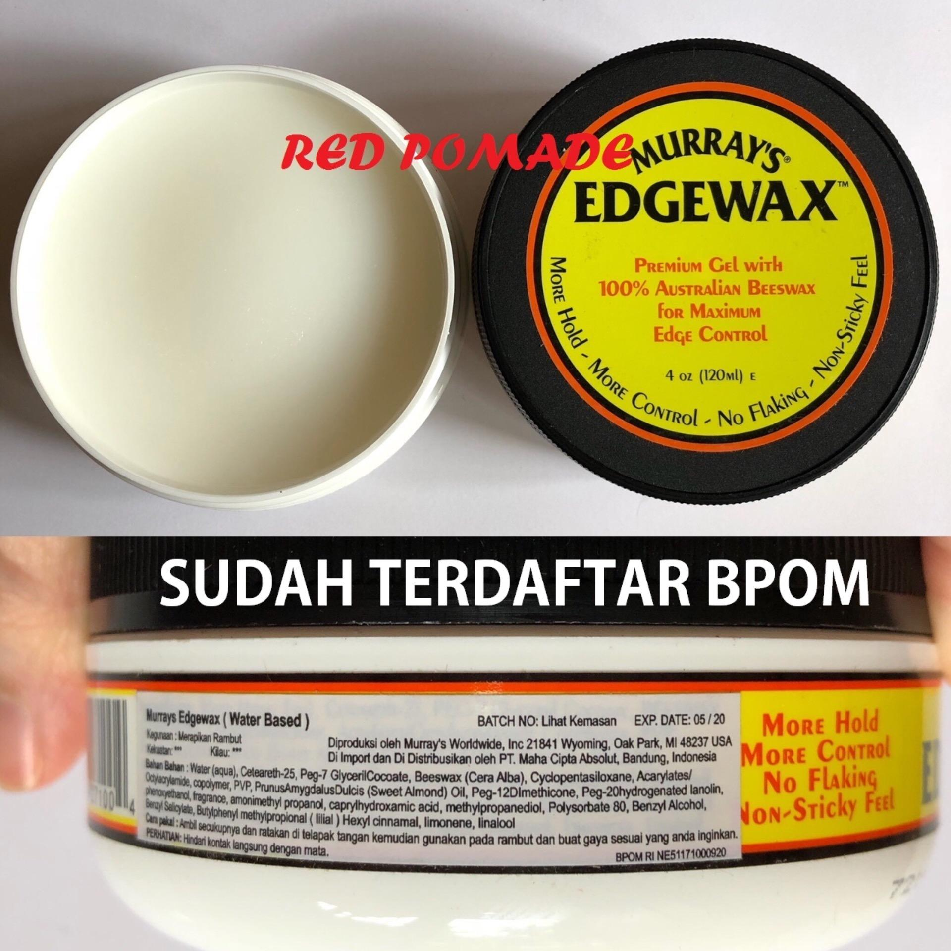 Pomade Murray's Murrays Edgewax Waterbased 4 Oz Sudah BPOM + Free Sisir Saku