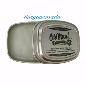 Pomade Oh man! Baby Nutri Green Ohman Mini Oilbase Strong Hold 45gr - Free Sisir