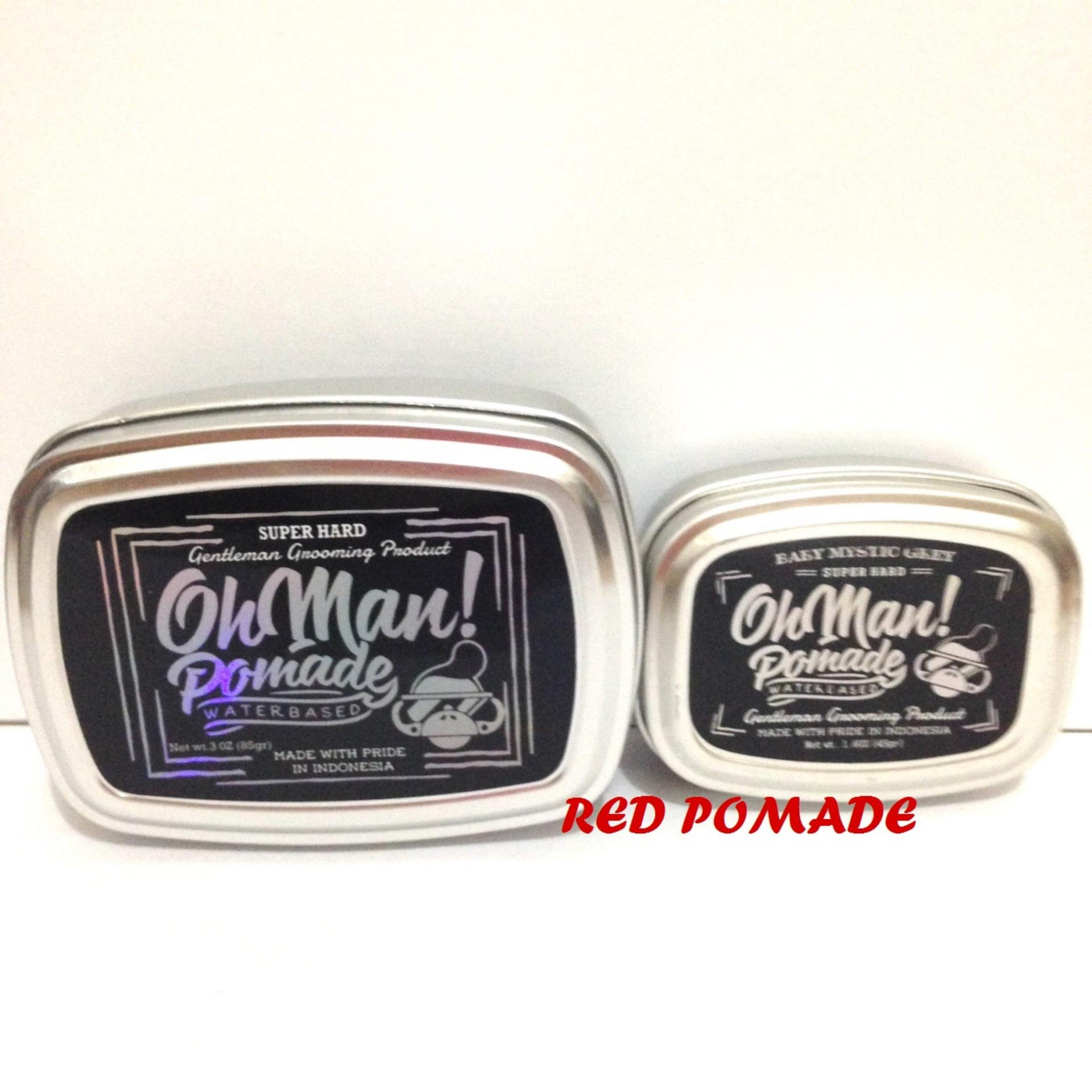 POMADE OH MAN! OHMAN BABY MYSTIC GREY MINI SIZE 45 GRAM HEAVY WATERBASED WATER BASED ...