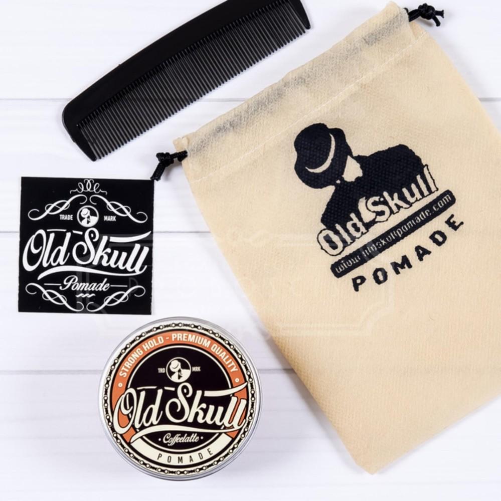 JUAL Pomade OLDSKULL / OLD SKULL COFFEELATTE STRONG HOLD  AROMA KOPI Terlaris
