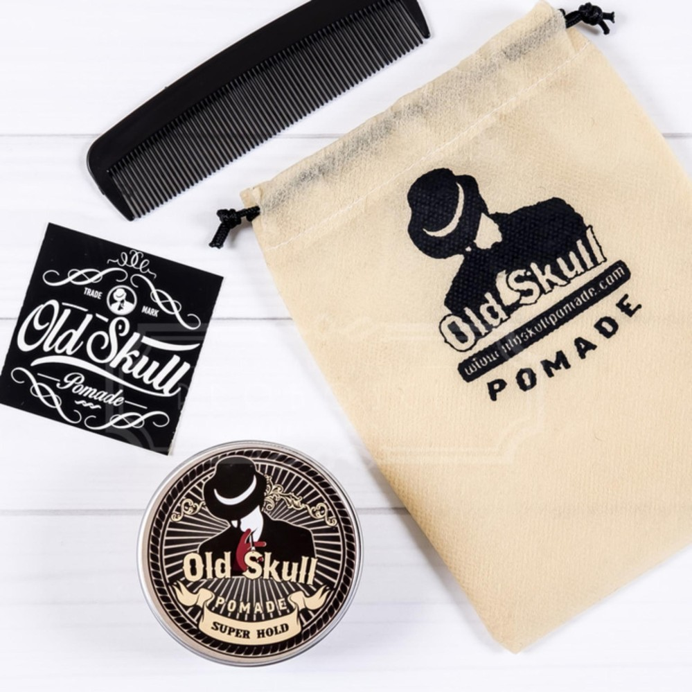 REVIEW Pomade OLDSKULL / OLD SKULL SUPER HOLD (superhold) AROMA BUBBLEGUM Terpopuler