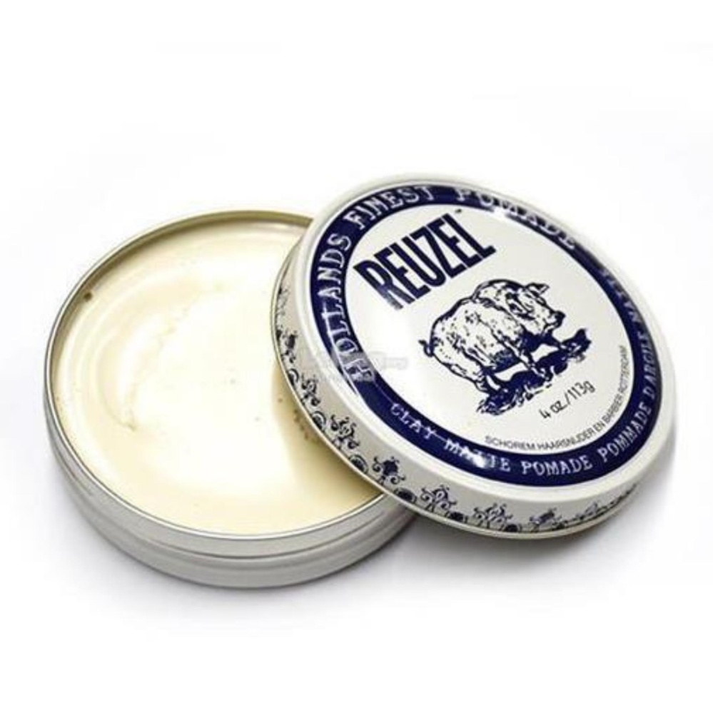 HARGA Pomade Reuzel White Clay Matte Matt Strong Hold 4 Oz – Made in Holland + Free Sisir Saku Terbagus