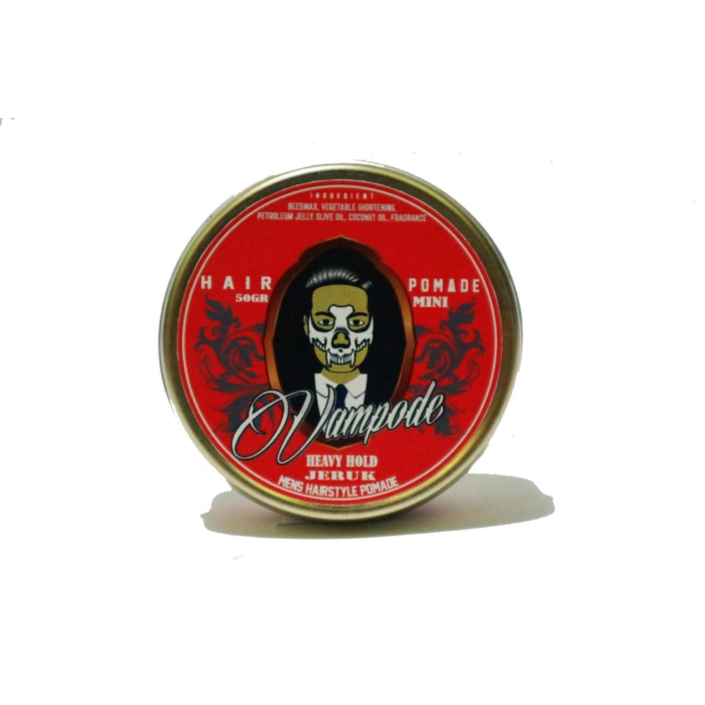 REVIEW Pomade VAMPODE Mini Jeruk Lokal Minyak Rambut Beeswax Original Indonesia [HEAVY] Terbagus