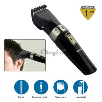 Portable Electric Hair Clipper Rechargeable Hair Trimmer WashableShaving Machine Low Noise Trimmer Perfect for Kid with Brush - intl